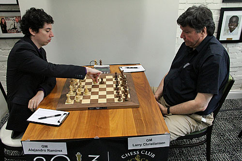 GM Alejandro Ramirez vs. GM Larry Christiansen, 1-0.