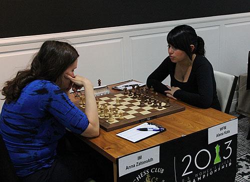 IM Anna Zatonskih vs. NM Alena Kats, 1-0.