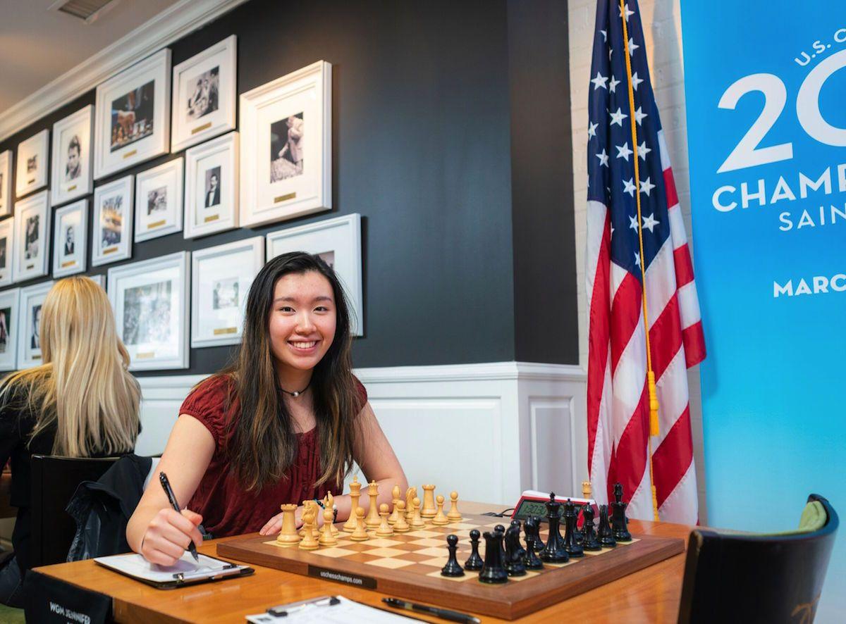 Jennifer Yu, 2019 U.S. Women's Champion. Photo by Lennart Ootes/Saint Louis Chess Club.