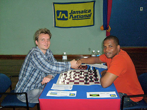 GM Timur Gareev set to face off against FM Jomo Pitterson.