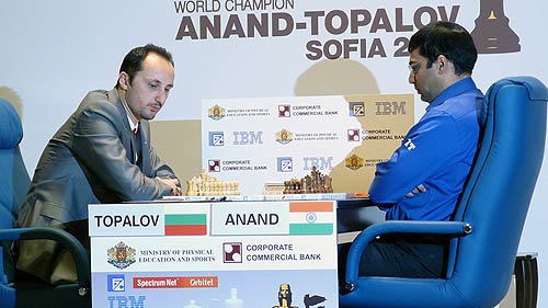 2010 World Chess Championship... Topalov (left) vs. Anand (right)