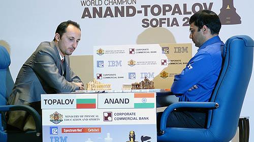 2010 World Chess Championship... Topalov (left) vs. Anand (right)
