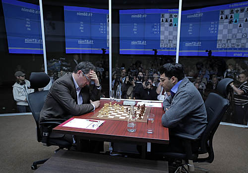 Although the game was short, the tension was thick! Photo by Alexey Yushenkov.
