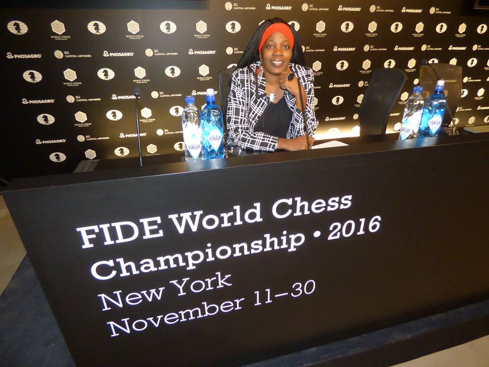 Chess enthusiast and promoter Adia Onyango was on site. Photo by Adia Onyango