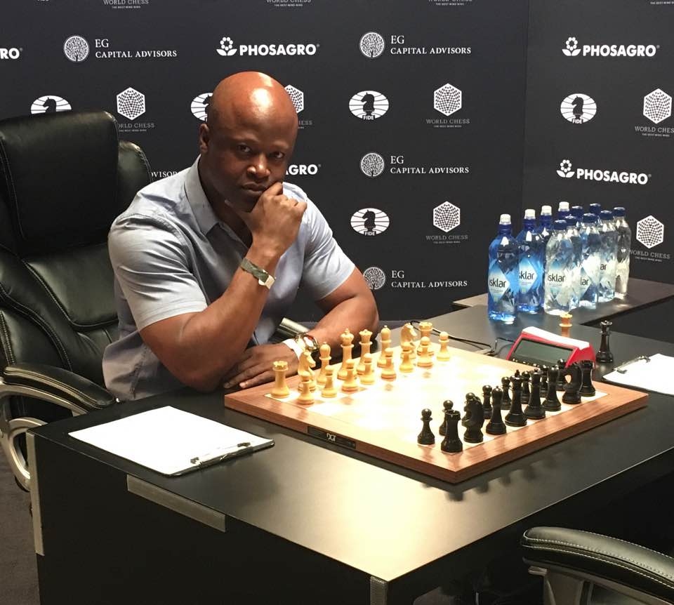 Maurice Ashley at 2016 World Chess Championship. Photo by Maurice Ashley