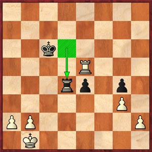 Kosteniuk-Hou, 2008 World's Women Championship, Game 2 (43...Rd4)