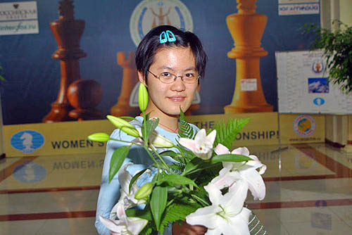 Coming of age... a future champion, Hou Yifan. Photo © FIDE.com.