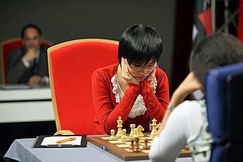 GM Hou Yifan. Photo by Anastasiya Karlovich for FIDE.