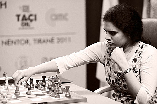 GM Koneru Humpy. Photo by Anastasiya Karlovich for FIDE.