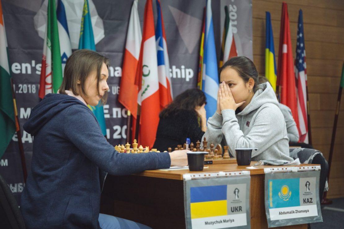 Mariya Muzychuk (UKR)-Zhansaya Abdumalik (KAZ)
