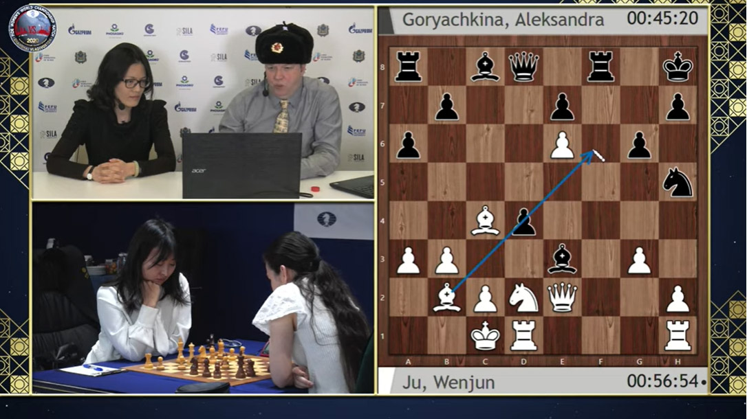 GMs Hou Yifan and Nigel Short