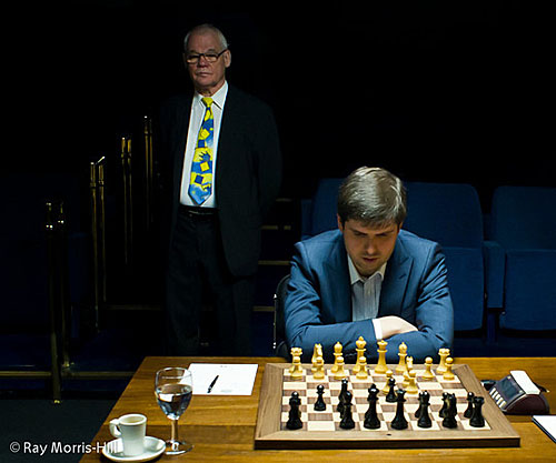 This rather serene photo was in contrast to the tornado on the board against Gelfand. Photo by Ray Morris-Hill.