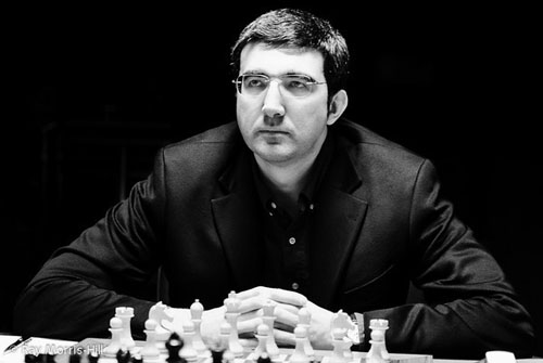 Vladimir Kramnik will be tested by Aronian. Photo by Ray Morris-Hill.