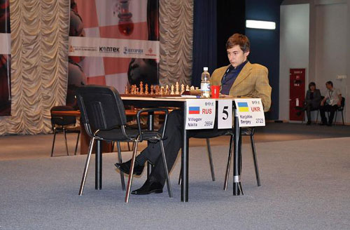 The Ukraine's Sergey Karjakin strikes a pensive pose. The child prodigy has certainly grown up! Will he finally break through this year?