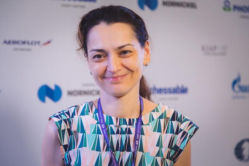 Alexandra Kosteniuk, 2021 Women's World Cup Champion. Photo by Anastasiia Korolkova