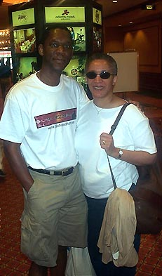 Thomas and Jackie Triplett heading back to East Lansing, Michigan the day after the 2003 World Open chess tournament.
