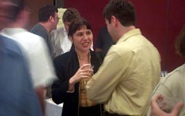 The stars are out: GM Zsuzsa Polgar made a cameo appearance.