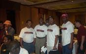 Chess Drummists: (L-R) Bruce Thompson, Daaim Shabazz, Kimani Stancil, Jerome Starks