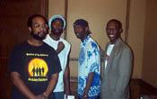 Chess Drummists: (L-R) Dr. Kimani Stancil, Negash Bezaleel, Ervin 'Maliq' Matthew, Dr. Daaim Shabazz
