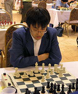 Yoshiru Habu is the world's strongest shogi player and is a national celebrity in his native Japan. He played in his second World Open and scored a prize-winning 6-3. Photo by Daaim Shabazz.
