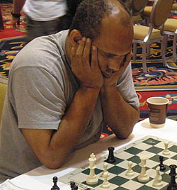 FM Emory Tate at 2001 World Open. Photo by Daaim Shabazz, The Chess Drum, https://www.thechessdrum.net.