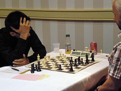 GM Parimarjan Negi battling GM Alexander Ivanov