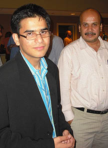 Parimarjan Negi and his father, J.B. Singh