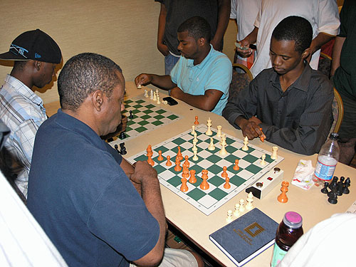 William 'Exterminator' Morrison and Farai Mandizha playing blitz.