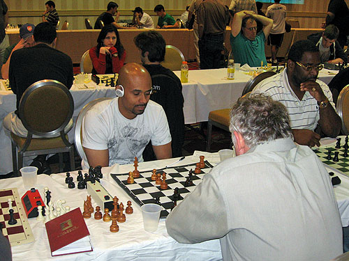 Antoine Hutchinson and Norman Rogers in action.