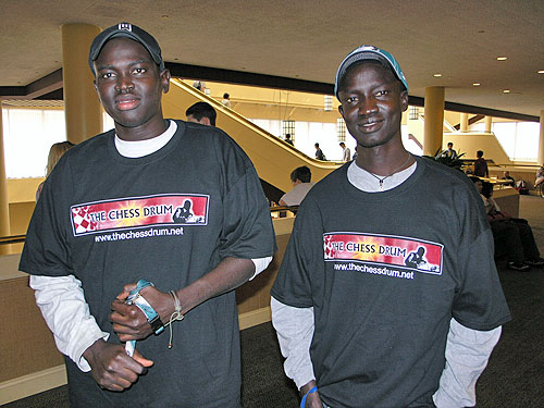 Kamanyola Bior and David Nhial from the Sudan. Photo by Daaim Shabazz.