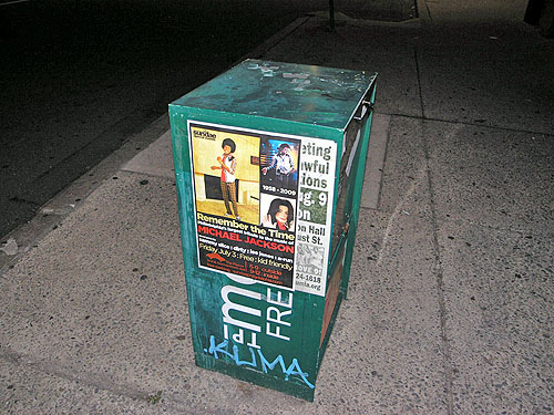 Advertisement for Michael Jackson tribute. Photo by Daaim Shabazz.