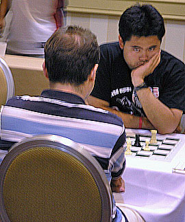 Nakamura with an intense look. Photo by Daaim Shabazz.