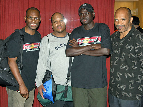 (L-R): Daaim Shabazz, Glenn Umstead, Kamanyala Bior and Emory Tate. Photo by Daaim Shabazz.
