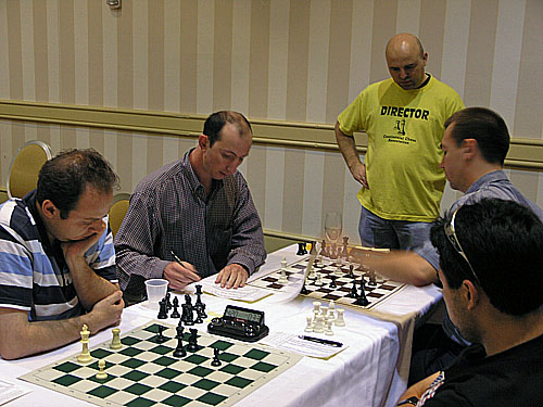 Najer vs. Nakamura (0-1) & Michalevksy vs. Kamsky (1-0). Photo by Daaim Shabazz.
