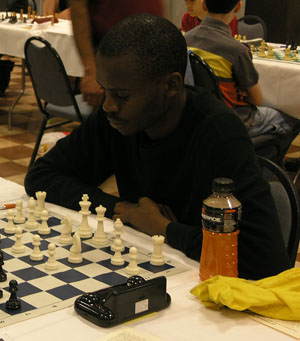 GM Amon Simutowe. Photo by Daaim Shabazz.
