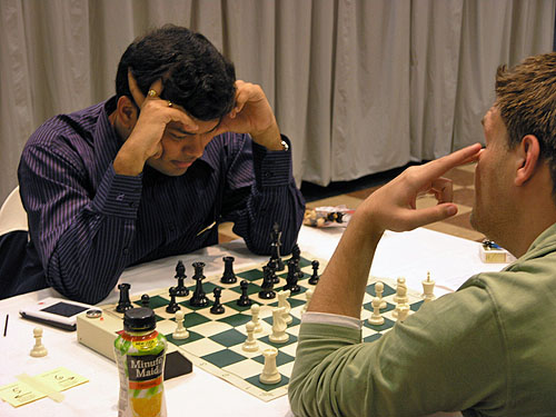 GM Surya Ganguly of India striking one of his unique poses. Photo by Daaim Shabazz.