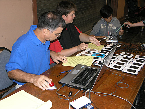 Station for live relays through Monroi. Photo by Daaim Shabazz.