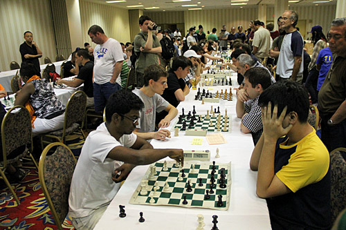 Blitz: S.P. Sethuraman vs. Wesley So, 0-2  Photo by Daaim Shabazz.