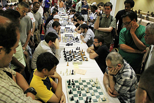 Blitz: Wesley So vs. Giorgi Kacheishvili, 2-0. Photo by Daaim Shabazz.