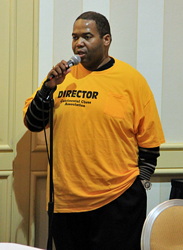 Boyd Reed, Tournament Director. Photo by Daaim Shabazz.