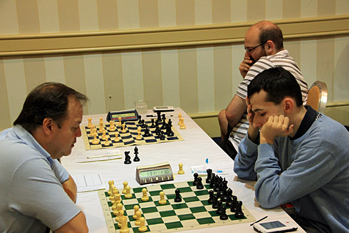 GM Alonso Zapata vs. GM Aleksandr Lenderman, 0-1. Photo by Daaim Shabazz.