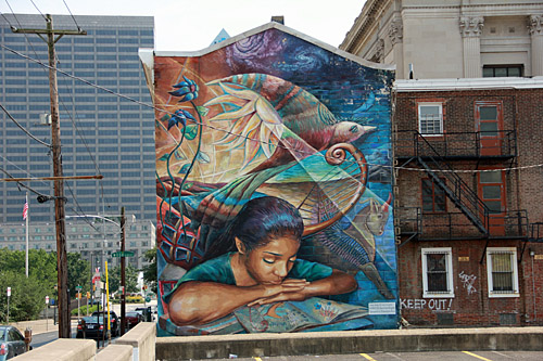 Lovely mural!. Photo by Daaim Shabazz.