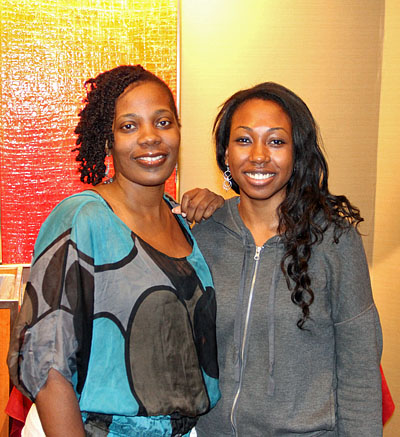Adia Onyango and Stephanie Ballom. Photo by Daaim Shabazz.