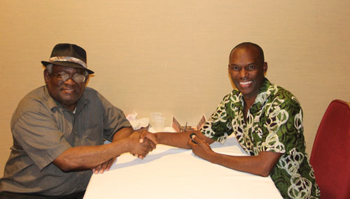 Interview with Walter Harris. Photo by Kimani Stancil.