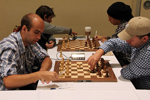 Korley plays the Alekhine for the first time! Photo by Daaim Shabazz.