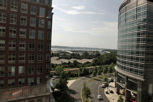 View from hotel window. This area is a relatively new development. Photo by Daaim Shabazz.