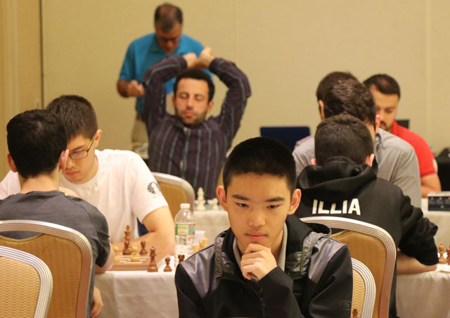 Jeffery Xiong at 2019 World Open. Photo by Daaim Shabazz.