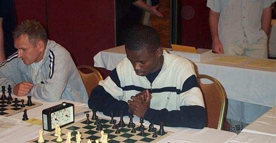 IM Amon Simutowe at 2001 World Open. Photo by Daaim Shabazz