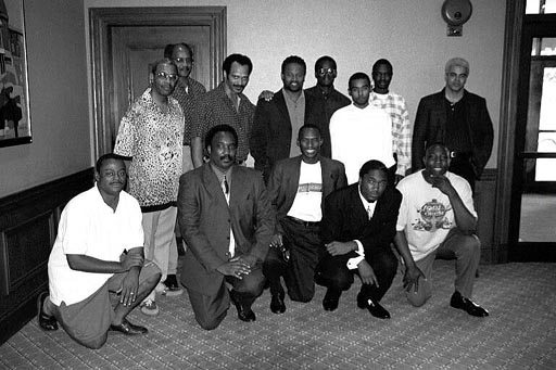 "Kneeling (L-R): FM William Morrison, NM David Allen, Sr., Daaim Shabazz, David Allen, Jr., Sulaiman Smith. Standing (L-R): NM Charles Covington, NM Frank Street, FM Emory Tate, GM Maurice Ashley, Jones Murphy, Jr., FM Kenny Solomon, NM Grace Nsubuga, NM Ernest ""Steve"" Colding."