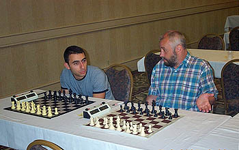 GM Varuzhan Akobian and GM Alexander Ivanov. Copyright © 2005, Daaim Shabazz.